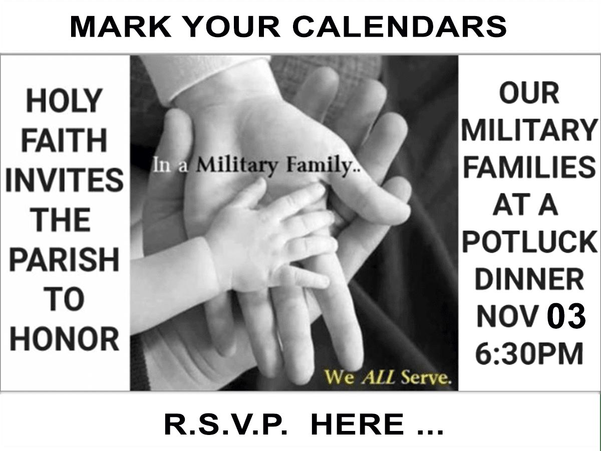 Invitation to Military Potluck 11-03-2018