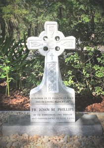 Picture of Memorial Cross in honor of Fr. John Phillips