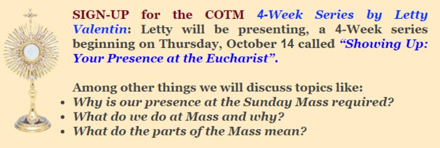 Eucharist sign-up